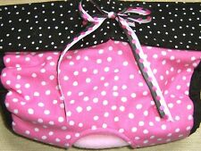 OUR SIGNATURE PATTERN - LULIBOOS DESIGNER DOG PANTY BRITCHES DIAPER PINK BLK DOT