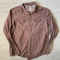 Banana republic slim pearl snap Shirt Button Front Mens Size medium