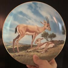 """Vintage W.S. George Will Nelson """"The Slender-Horned Gazelle"""" Plate 1990"""
