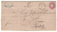 Brief (Briefhülle ohne Inhalt) mit Sachsen 1 Neugroschen (Nr. 16) von Königstein