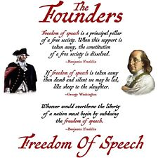 Conservative THE FOUNDERS FREEDOM OF SPEECH QUOTES Political Shirt