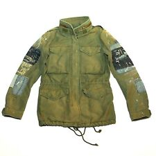New $300 Ralph Lauren DENIM & SUPPLY Military Trench Jacket Womens Size 2XS XXS