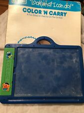 Sesame Street Look What I caN Do Color 'n Carry Art Desk For Kids On The Go Rare