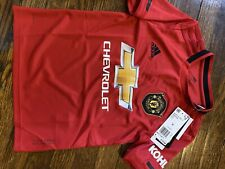 Adidas Manchester United Home Soccer Jersey - Youth Size Small