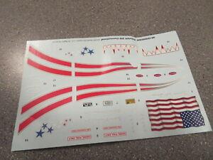 MODEL KIT DECAL SEMI TRUCK PETERBIULT 359 USA FLAG