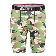 Ethika Army Camouflage Man/Woman Long Boxer Underwear Sports Short Pants Size S