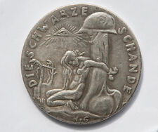 Restrike Of The 1920 Watch On The Rhine/Black Shame Medal By Karl Goetz