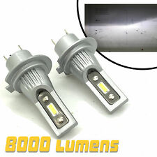Micro V12 CSP LED Headlight Bulbs Kit 8000 Lumens! 12-24v perfect beam pattern