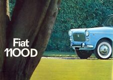 Fiat 1100D English market colour sales brochure