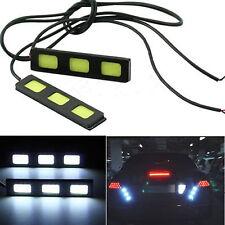 2x 3 COB LED DRLDaytime Running Light Driving Strip Daylight Fog Light Lamp