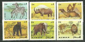 AJMAN MNH AFRICAN ANIMALS
