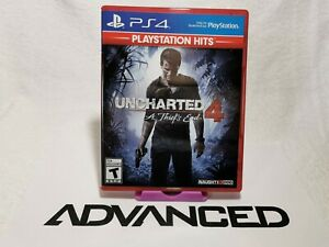 Uncharted 4 A Thief's End (PS4) PlayStation Hits with Case   VG Condition