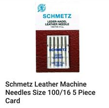 ORIGINAL SCHMETZ SEWING MACHINE LEATHER NEEDLES Size 100/16 HEAVY DUTY, STRONG