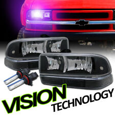 10K Hid Xenon Black Headlights W/Parking Bumper K2 98-04 Chevy S10 Blazer/Pickup