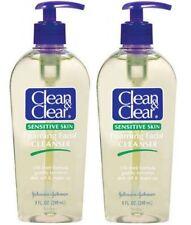 2 ORIGINAL CLEAN & CLEAR FOAMING FACIAL CLEANSER SENSITIVE SKIN OIL FREE SHIP US