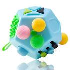 12-seitige Fidget Cube Spinner Desk Toy Kinder Angst Erwachsene Stressabbau ##L