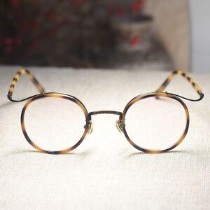 Round glasses John Lennon eyeglasses men's womens light tortoise RX clear lenses