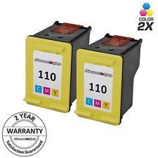 2pk 110 CB304AN COLOR Print Ink Cartridge for HP Photosmart A311 A314 A316 A320