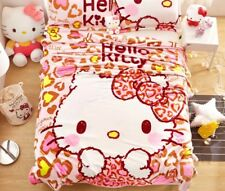 "Kawaii Anime Hello Kitty Cat Plush Soft Silky Flannel Blanket Bedding 79""x59"""