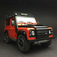 New 1/18 Kyosho Land Rover Defender 90 Diecast open close car model Orange black