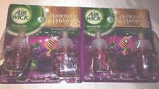 4 Air Wick Refill Scented Oil Honey Sugarplum Homemade Holiday airwick refills