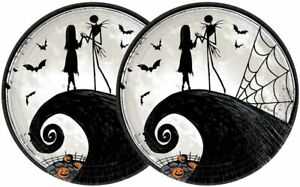 Nightmare Before Christmas Plates Lunch ~8 PCS ~ Halloween Party Decoration Jack