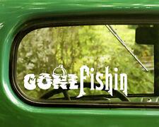 2 Gone Fishing Decals Sticker For Car Window Truck Bumper Laptop Jeep Rv