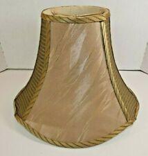 Vintage Medium Lamp Shade 14 x 10 Bronze Fabric Bell Shape