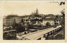 alte Foto Ak 1942 Laun, Louny, Teilansicht mit Brücke