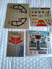 transformers Reprolabels decals sticker sheets lot blitzwing slag strafe prime
