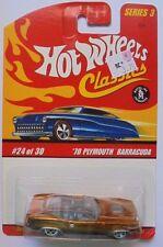 Hot Wheels Classics Series 3 '70 Plymouth Barracuda 24/30 (Gold Version)