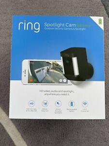 Ring Spotlight Cam Battery 1080P HD Camera with Two-Way Talk & Spotlights Black