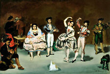 Spanish Ballet A2 by Edouard Manet High Quality Canvas Art Print
