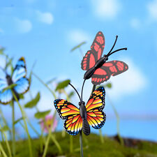 4X Butterfly Miniature Fairy Garden Ornament Plant Pot Craft Dollhouse Decor#