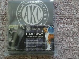 """AKC American Kennel Club car seat cover for dogs, gray, 57""""x59"""", unused, IOB"""