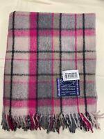 100% Wool Blanket | Tweeds of Scotland | Old Town Mulberry | Tartan