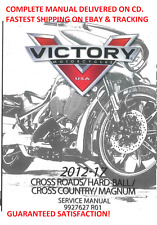 Victory Cross Country 2012 2013 2014 2015 2016 2017 service manual cd disc