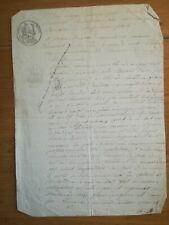 16/03 1842 Acte notarié TBE 2 pages Loiret - Bail à ferme résilié en 1849