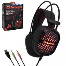 MARVO Cuffie Gaming USB PC MAC XBOX Auricolare Microfono Controllo Volume HG8941