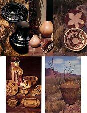 Native American Indians-Arts-Crafts-Baskets-Pottery-Modern Postcard 16 Card Lot