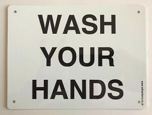 Wash Your Hands - Plain Metal Sign 150 x 200mm