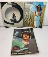Rare Vintage - Lot of 3 FRENCH Release REALITES Apr., May., Jun. 1971 Magazines