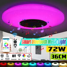 72W LED Colorato Camera Soffitto Luce RGB Regolabile bluetooth Musica Speaker