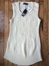 NWT Basement Collection Sweater dress Sz S Off white cable knit Retail $129 sz24
