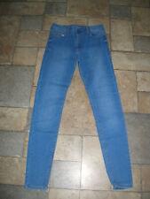 Da Donna Ex Bershka Super Skinny Fit Denim Jeans Stretch color navy taglia 10 Pantaloni E38