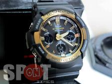 06authentic Casio G-shock Tough Solar Gold Tone Bezel Ana-digi Watch Gas100g-1a