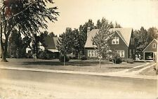 A Closeup View of A Residence in Houghton Lake MI RPPC