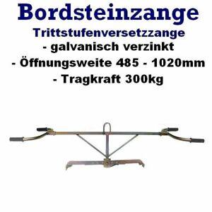 Bordsteinzange Bordsteinsetzzange Bordsteinversetzzange Steinzange Minibagger