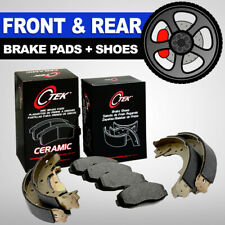 [FRONT & REAR] Ceramic Disc Brake Pads + Brake Shoes 2 Sets Fits Toyota Yaris