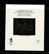 Guyana1992 Olympics/Soccer Michel BL 224-25 ALBERTVILLE OVERPRINT Sheets